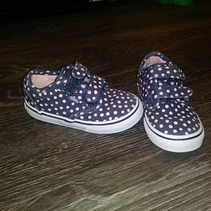 Girls Velcro Polka Dot vans